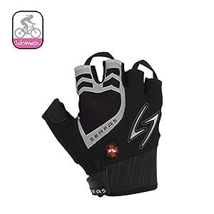 Serfas Women's RX Short Finger Gloves, Sky/White, Small