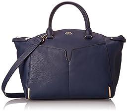 Vince Camuto Asha Satchel Shoulder Bag, Dress Blue, One Size