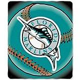 Florida Marlins MLB 50 x 60 Fleece Throw Blanket