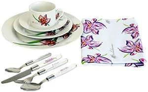 Karcher 120228 Kaffee- und Tafelservice Orchidee 49-teilig