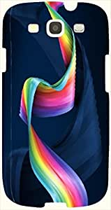 Lovely multicolor printed protective REBEL mobile back cover for S3 - Samsung I9300 Galaxy S III D.No.N-L-17366-S3