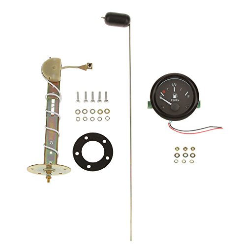 2'' 52mm Universal Car Fuel Level Gauge with Fuel Sensor LED Pointer Gauge (Digital Fuel Level Gauge compare prices)