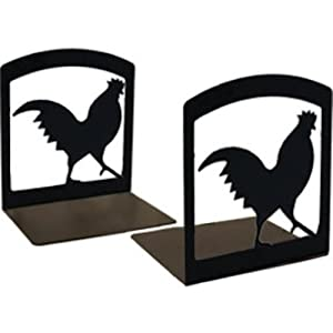Village Wrought Iron BE-1 Rooster Bookends