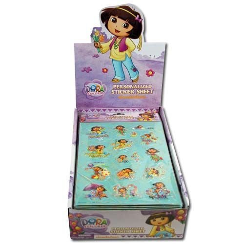 Dora The Explorer Raised Sticker Sheet in Poly Bag