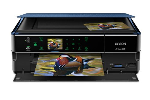 Lowest Price! Epson Artisan 730 Wireless All-in-One Color Inkjet Printer, Copier, Scanner (iOS/Table...