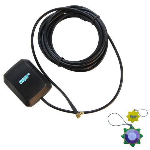 Hqrp External Gps Antenna For Synergy Systemsv Ar-05B Gps (Mcx) Antenna (10001345) / Ar-05C Gps (Mcx) Antenna (10001346) / Ar-10S Gps Mcx Antenna 1001334 Antenna Replacement Plus Hqrp Uv Meter