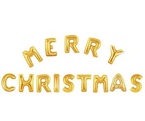 40quot merry christmas supershape foil balloon letters in for Foil letter balloons amazon
