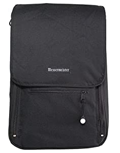 Messermeister 6-Pocket Messenger Knife Bag, Black