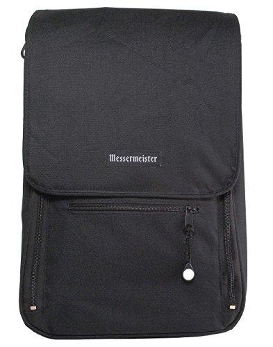 Messermeister 6-Pocket Messenger Knife Bag, Black
