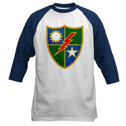 CafePress 75TH RANGER REGIMENT Baseball Jersey - L Blue/White