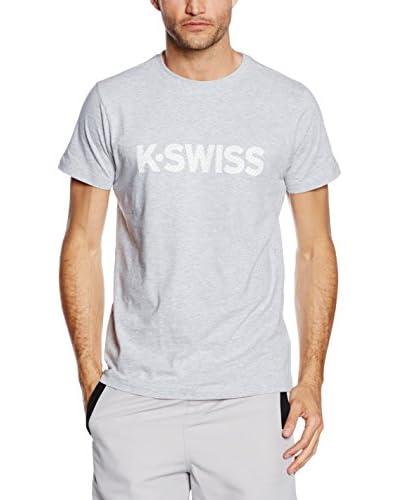 K-Swiss Camiseta Manga Corta K Spell Out Gris