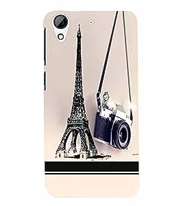 PrintVisa Travel Paris Camera 3D Hard Polycarbonate Designer Back Case Cover for HTC Desire 626