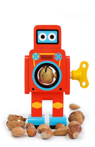 SUCK UK Robot Nut Cracker, Small<br />Red