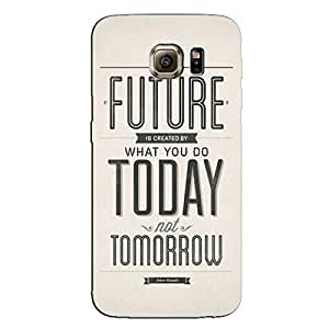 FUTURE TODAY TOMORROW BACK COVER FOR SAMSUNG GALAXY S7 EDGE