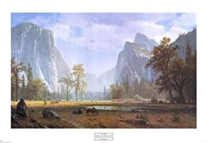 Albert Bierstadt - Looking Up the Yosemite Valley NO LONGER IN PRINT - LAST ONES!!