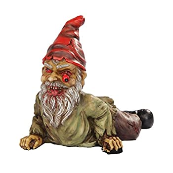 7 Inch Resin Scary Crawling Zombie Garden Gnome Décor Figurine
