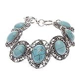 SBB 21618 Vintage Retro Tibet Seven Bead Link Bracelet for Women