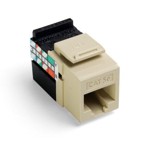 Leviton 5G108-RI5 GigaMax 5E QuickPort Connector, Cat 5E, Ivory