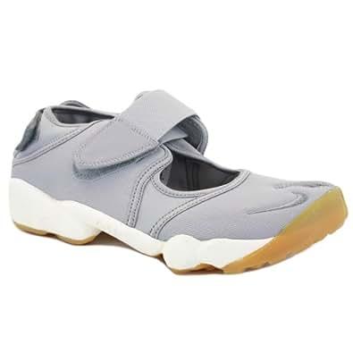 Nike Air Rift 315766 019 Womens Velcro Textile Split-Toe Trainers Grey - 9½
