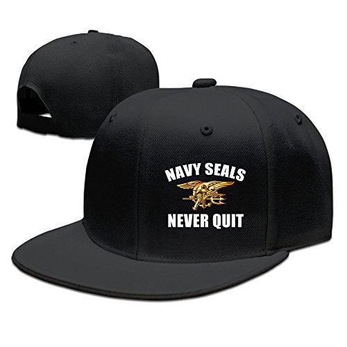 Us Navy Seals Never Quit Snapback Hats Flat Bill Baseball Hats (Navy Seal Never Quit compare prices)