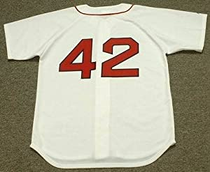 MO VAUGHN Boston Red Sox 1995 Majestic Throwback Home Baseball Jersey, LARGE