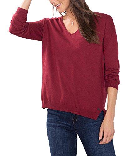 edc by Esprit 086Cc1I025, Felpa Donna, Rosso (Bordeaux Red), 38 (Taglia Produttore: M)