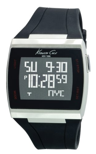 Kenneth Cole Mens Touch Screen Watch KC1668 with Black Dial and Black Silicone Strap