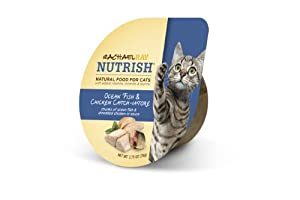 RACHAEL RAY NUTRISH Natural Food for Cats, Ocean Fish & Chicken Catch-iatore Recipe, 2.8 oz., case of 24