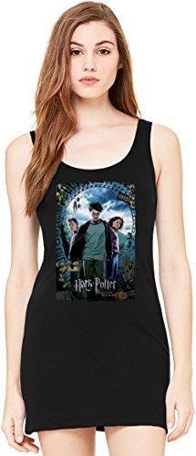 Harry Potter and the Prisoner of Azkaban Tunica Smanicata Bella Basic Sleeveless Tunic Tank Dress For Women| 100% Premium Cotton| Small