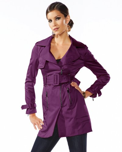 bebe.com : Riveting Asymmetrical Belted Trench