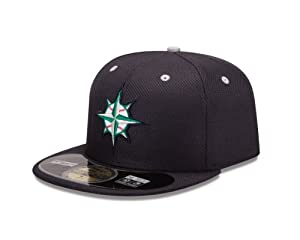 MLB Seattle Mariners Batting Practice 59Fifty Baseball Cap, Navy by New Era
