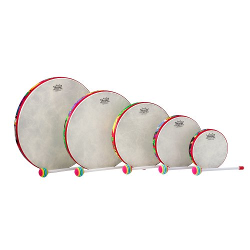 Remo Kids Percussion, 5 Piece Hand Drum Set, Rain Forest Fabric