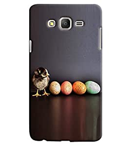 Blue Throat Bird With Colored Eggs Hard Plastic Printed Back Cover/Case For Samsung Galaxy On 5