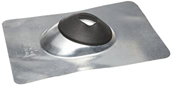 "Morris Products G12202 Self-Seal Roof Flashing, Galvanized Steel, 2"" to 2-1/2"" Size, 12-1/2"" Length, 9"" Width"