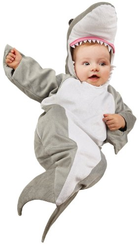 Underwraps Baby's Shark Bunting, Grey/White, Infant - 1