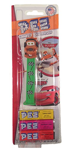Pez Candy Dispenser: Disney Cars Mater Checker Board Flag in Blister Card - 1