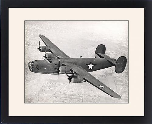Framed Artwork of Consolidated B-24D Liberator