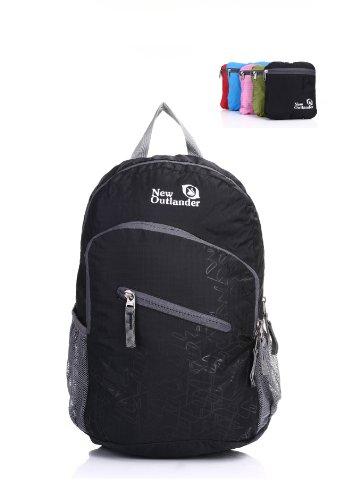 Outlander Packable Handy Lightweight Travel Backpack Daypack, Black