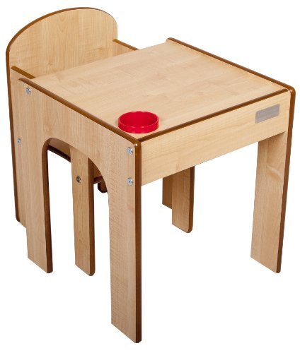 Little Helper FunStation Toddler Table  &  Chair Set (Maple/Natural)