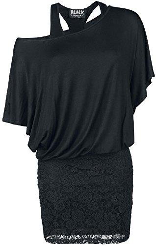 Black Premium by EMP Bat Double Layer Dress Abito nero XXL