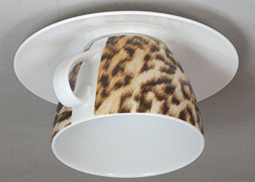 Eschenbach cappuccino tazza in porcellana da proiettore-Lampadario E1460W Leopard-weiß