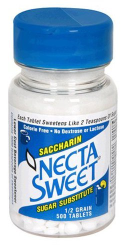 Necta Sweet Saccharin Sugar Substitute 0.5 Grain Tablets - 500 Each