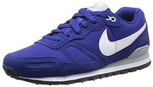 Nike 454395 401 Air Waffle Trainer Leather Herren Sportschuhe - Running Mehrfarbig (Dp Ryl Blue/White-Slvr Wng-Blk) 47.5