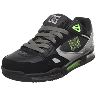 DC Men's Versaflex Skate Shoe,Black/Softlime,6 M US