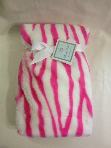 Pink Zebra Baby Blanket front-173536