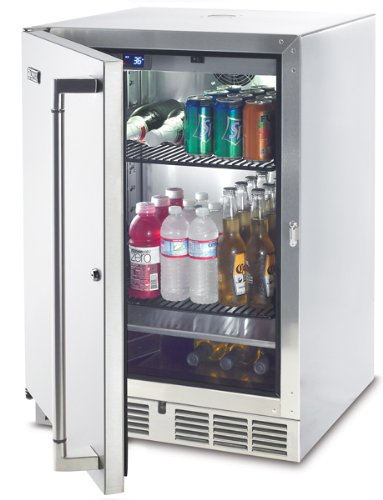 Lynx L24Bf 5.5 Cubic Feet Outdoor Refrigerator/Kegerator, 24-Inch, Stainless Steel