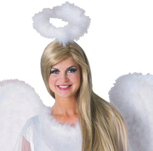 Marabou Feather Halo White Adult