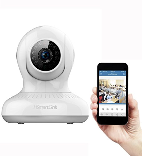 Goldwheat HD 720P WiFi Wireless IP Security Surveillance Camera with Pan & Tilt Two-Way Audio and Night Vision-White
