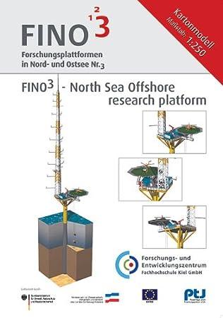 Modèle en carton FINO3 plateforme de recherche en mer du Nord