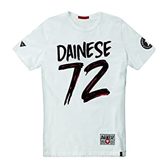 Dainese 1896354_003_XL 72 T-Shirt, Rouge, Taille : 42